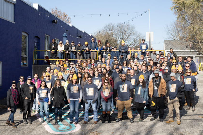 Buckingham Companies 2019 Day of Service Team at Big Car in Indianapolis