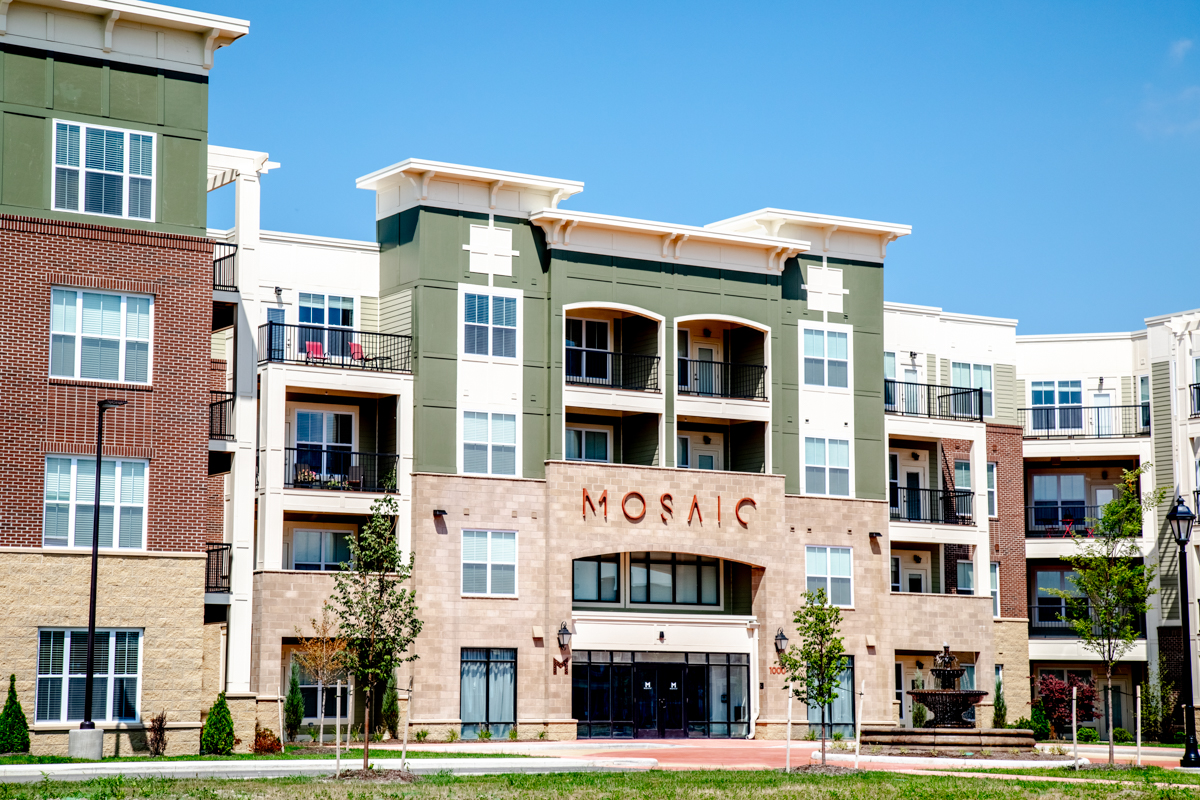 Exterior of Mosaic at Levis Commons Apartment Community in Ohio