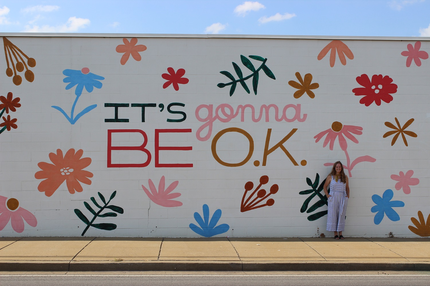 Buckingham Foundation service project with Off the Wall Nashville bringing art to the community with Sarah Liz Tate