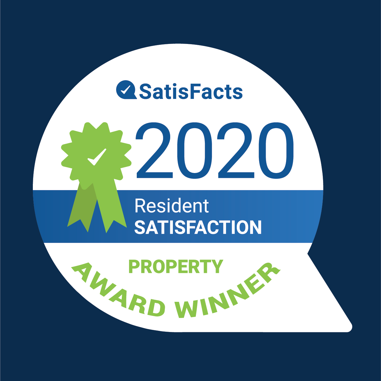 2020 SatisFacts Property Award Winner
