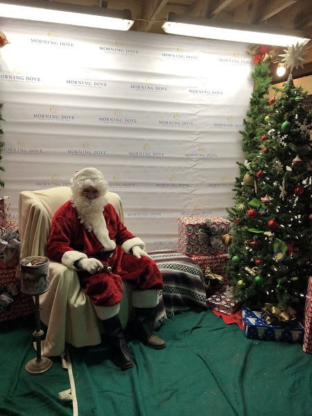 Mike playing Santa at Morning Dove Center in Indy