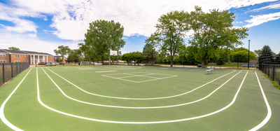 Outdoor sports park at Gramercy in Carmel, Indiana