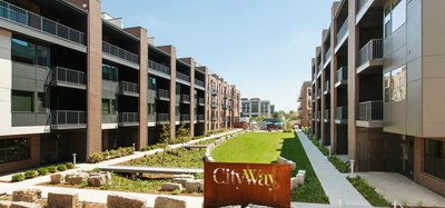 Outdoor green space at CityWay in Indianapolis